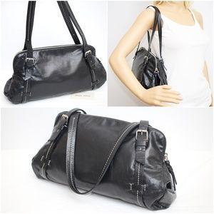 Miu Miu Black Leather Shoulder Bag